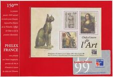 1999 FRANCE BLOC N°23** BF Philex 99, ART, Tableaux ds pochette rouge, Sheet MNH
