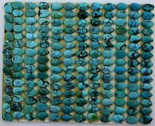 TWO 6mm x 4mm 6x4 Pear Natural Turquoise Cabochon Gem Stone Gemstone ebs5622