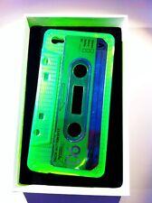 Custodia morbida gel iphone 4 4S audiocassetta verde fluo silicone trasparente