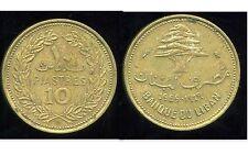 LIBAN   10   piastres 1969