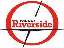 Vintage look Wards Riverside Benelli Moped Gas Tank Vinyl Decal Sticker