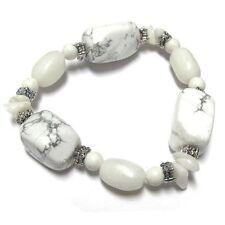 White Howlite Nugget Stretch Bracelet