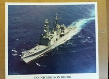 USS NICOLSON DD 982  PHOTO AND STICKER