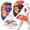 Bamboo Martial Arts Kung Fu Tai Chi Fan Lovers Perform Loud Sound Folding Fans