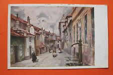 Tschechien CZ AK Prag Praha 1910-30 Künstler F Engelmüller Zlata Ulicka Straße +