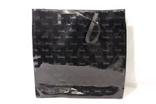 HARRODS Debossed/Monogram Black Patent Tote, LARGE BAG, London B27