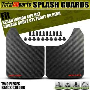 2x Front Rear Black Universal Splash Guard Mudflap for Hyundai Accent Elantra