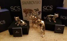 SIGNED SWAROVSKI ANNUAL EDITION GOLDEN TIGERS 2010  3 PIECE SET NEW 1003148 $725
