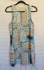 FOREVER NEW Ladies Floral Tropical Racer Back Lined Dress Pre-Loved Size 10