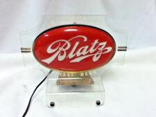 Blatz beer sign lighted back bar cash register topper light double sided bubble