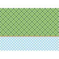 10 Sheets of Decoupage Paper London Blue and Green Circles 17gsm (25580)