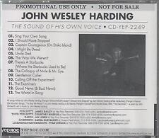 JOHN WESLEY HARDING - The Sound Of His Own Voice - RARE 2011 UK CD - FREE UK P+P