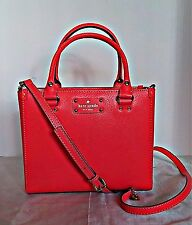 KATE SPADE  - Small Quinn Wellesley Leather Tote - Hot Rose