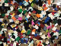 LEGO BULK LOT OF 100 NEW MINIFIGURE LEGS TOWN FIGURES CITY MINIFIGS