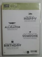 Stampin Up SEE YA LATER Set of 4 Clear Mount Rubber Stamps New Birthday Love