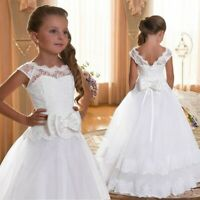 US Communion Party Prom Princess Pageant Bridesmaid Wedding Flower Girl Dress