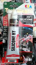 TECHNICQLL HIGH TEMPERATURE 300°C SILICONE LIQUID GASKET SEALANT BOILER 70ml RED