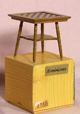 412 Vintage Dollhouse Miniature Reminiscence Golden Oak Chess Table 4140