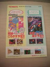 >> OFF THE WALL MARBLE MADNESS PC ENGINE TENGEN JAPAN HANDBILL FLYER CHIRASHI <<