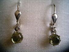 Peridot Ohrhänger Sterlingsilber, Ohrhänger Silber 925 mit grünem Peridot
