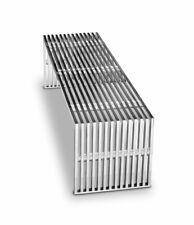 Stainless Steel Bench with Transparent Plexiglass Distanzstücken. L140 cm Noble
