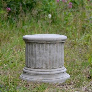 Column Plinth Round Hand Cast Stone 9″ Garden Ornament Stone Concrete⧫onefold-uk