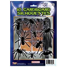 10 Negro Gótico Halloween Surtidos Arañas Recortes De Pared Decoración Fiesta