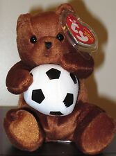 Ty Beanie Baby ~ SWEEPER the Soccer Bear ~ MINT with MINT TAGS ~ RETIRED