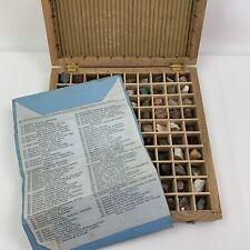 Vtg Mineral Collection By Colorado Assaying Co.  Denver 100pc - Wood Box & Key