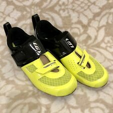 Triathlon Cycling Shoe - Louis Garneau Tri X-Lite 2 - 44 - Black/Yellow - Carbon