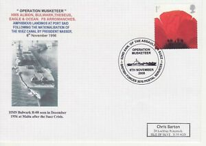 GB Stamps Navy Souvenir Cover Operation Musketeer, Port Said, Suez Canal 2008