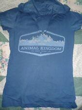 Girl's size Medium 10-12 Blue Disney Animal Kingdom Blue Cotton Hoodie Top