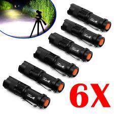 6x Tactical 12000LM T6 LED ZOOM Shadowhawk 14500 Flashlight Lamp Light Aluminum