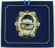Vintage Gold White House 2004 Christmas Ornament Holiday Tree Decoration w/Box