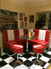 AMERICAN DINER RETRO BOOTH CORNER SUITE 50'S 60'S KITCHEN 1.5m X 1.5m CUSTOM SZ
