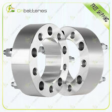 """(2) 2.0""""  5x5.5 to 5x5.5 Wheel Spacers 1/2"""" Studs For Ford E-150 Dodge Ram 1500"""