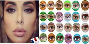 Lentilles de couleur cosmétiques sans correction * Vendeur français *