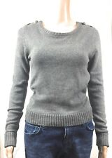 Forever 21 Womens Sweater Sz Small Petite SP Gray Cotton Blend Warm NWT