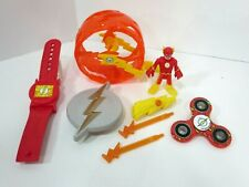 Imaginext Flash Figure Wheel & Wrist Watch Lot DC Justice League Hero Set Toy