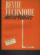 (C3A)REVUE TECHNIQUE AUTOMOBILE MERCEDES 170S / TRACTEUR DAVID BROWN