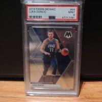 2019-20 Luka Doncic Panini Mosaic Card Dallas Mavericks NBA #44 PSA 9 MINT