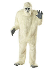 Adult Abominable Snowman Yeti Full Suit Costume - White Gorilla