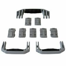 New Pelican Silver 1650 replacement latches (7) & handles (3) - kits.