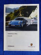 Porsche 911 Carrera Typ 991 - Werbeanzeige Reklame Advertisement 2011 __ (465-2