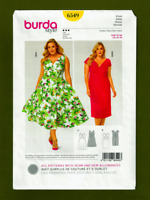 V-Neck Sleeveless Dress Sewing Pattern~2 Variations (Plus Size 20-30) Burda 6549