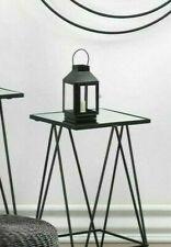 "Mini small 7"" Black Modern metal frame candle holder lantern lamp fairy light"