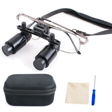 Adjustable Dental Loupes 4x R300 500mm Surgical Binocular Magnifier Zoom Lens