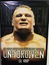 Wwe - Unforgiven 2002 (Dvd, 2002) Brick Lesnar vs Undertaker - Ric Flair