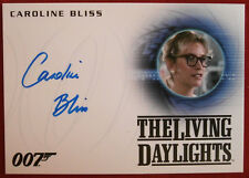 JAMES BOND THE LIVING DAYLIGHTS, CAROLINE BLISS, MONEYPENNY, Autograph Card A263