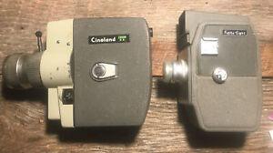 2 Cameras FUJITA 8 Eight & CINELAND Zoom EE Vintage Film Movie Cameras